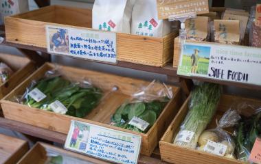 野菜販売ブース